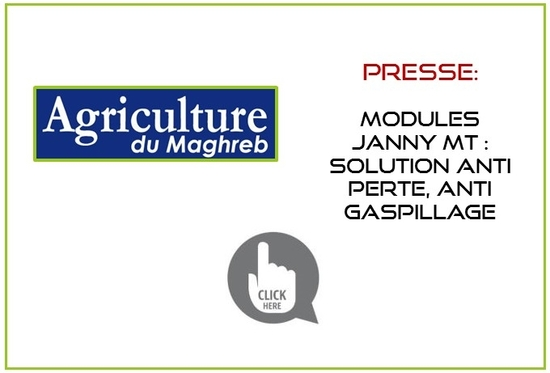 Article Agriculture du Maghreb -